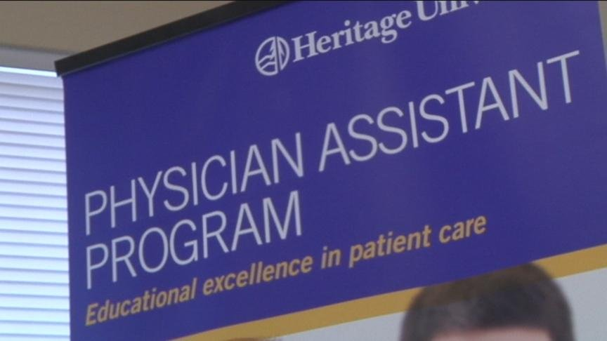 Staff at the university unveiled their new, hands-on physician assistant training program, which will start this may.