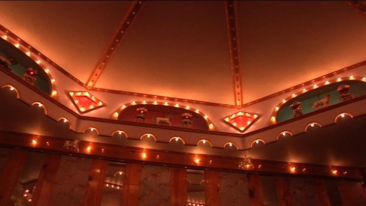 As the Carousel of Dreams nears completion, one man in Richland already has a carousel of his own inside his house!
