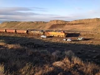 The Franklin County Coroner has confirmed that a 35 year-old Mesa woman's body was found after being struck by a BNSF eastbound train.