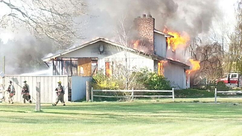 We're working to learn more about a house fire along North Harrington Road just north of West Richland.