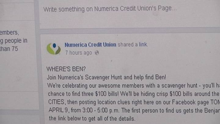 Numerica Credit Union wants to give you the chance to win $100, in a fun way.