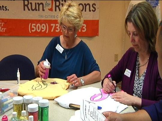 Run for Ribbons is about a week away, but organizers are helping you get ready by throwing a T-shirt Decorating Party.