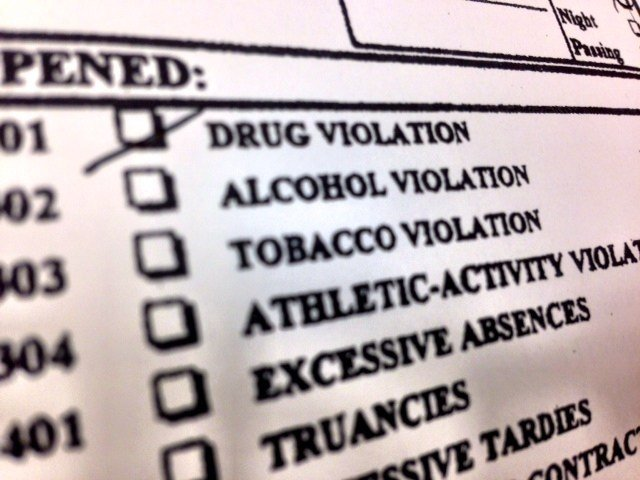 "Horse Heaven Hills Middle School officially lists ""drug violation"" on a form that will stay in Noah Lockhart's permanent file according to his mother."