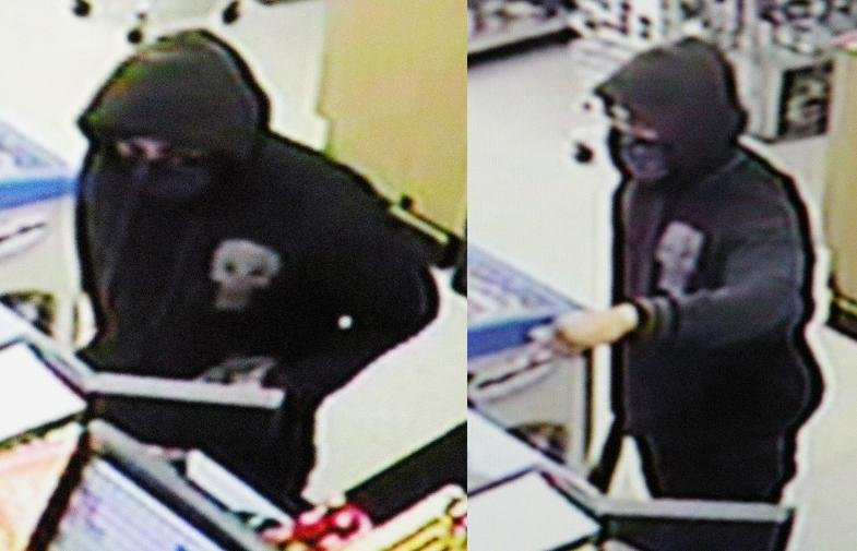 Pasco Police are looking for the man who robbed the King City Truck Stop Convenience Store with a machete.
