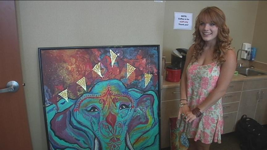 An 18-year-old Ellensburg High School Senior doesn't earn an income through waitressing or working in retail. She sells her artwork for hundreds of dollars.