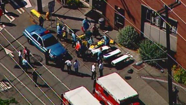 Seattle police took one person into custody at Seattle Pacific University after reports of a shooting. Courtesy: King 5