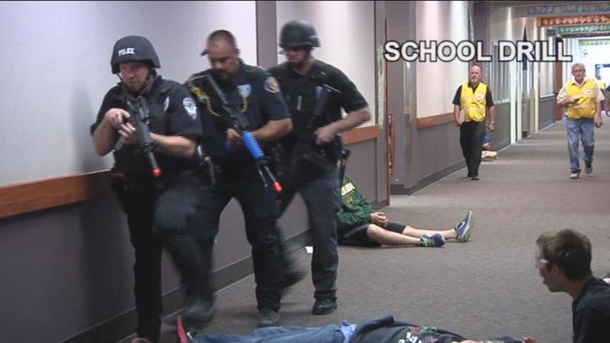 With the recent string of violence on school campuses, officials everywhere are on the lookout, even locally in the Yakima Valley. Monday, the Selah School District performed their first ever active shooter drill.