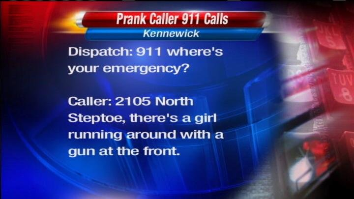 A prank caller in Kennewick has been in and out of jail lately accused of making at least 26 fake emergency calls to dispatchers starting in December.