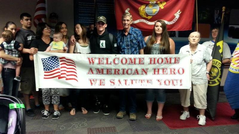 It's been a long road home, but a Marine from Hermiston is finally back home Monday!