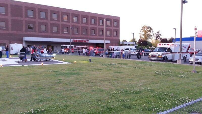 Firefighters are investigating a gas leak at Lourdes Medical Center in Pasco Tuesday night.