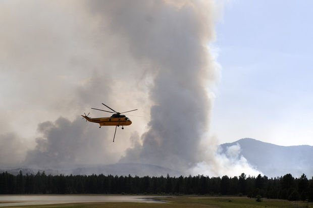 A reward for information about who's responsible for a wildfire burning near Bend has been increased to $14,500. Courtesy: The Oregonian