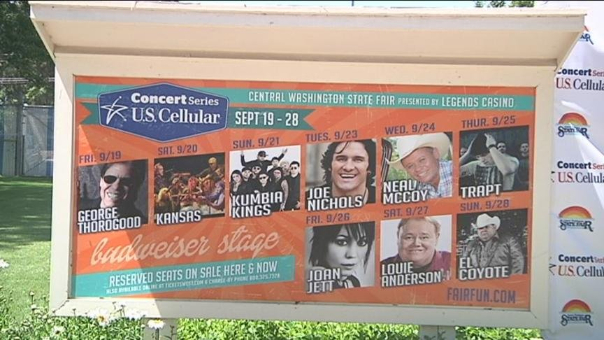 The entertainment lineup for this year's Central Washington State Fair has officially been announced, and there are several big headliners.