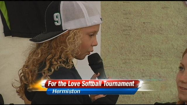 A co-ed softball tournament in Hermiston got underway Friday night.