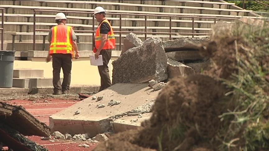 Construction at Eisenhower High School is starting up again. This time, crews are building and renovating the athletic facilities.