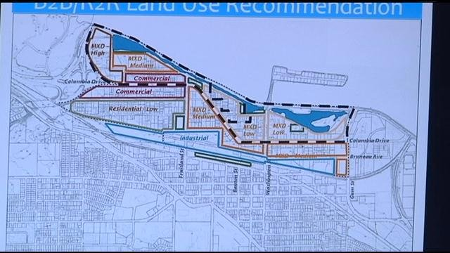 The Kennewick Planning Commission is moving right along with their Bridge to Bridge Development Plan.