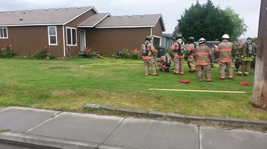 Firefighters in the Tri-Cities responded to a home on fire in Pasco Tuesday afternoon.