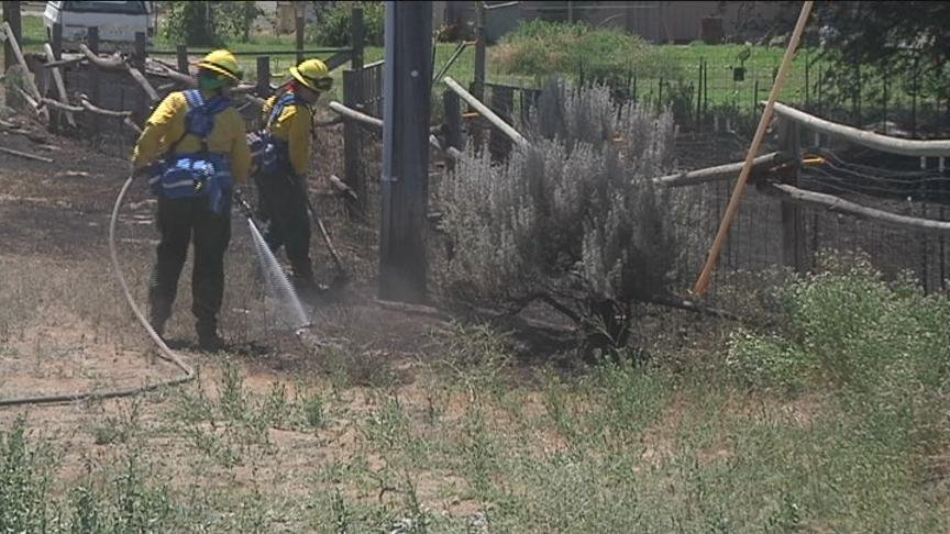 A small rural community in Selah tries to return to some normalcy after a brush fire grew out of control Tuesday, threatening some homes and scorching fields and pastures.