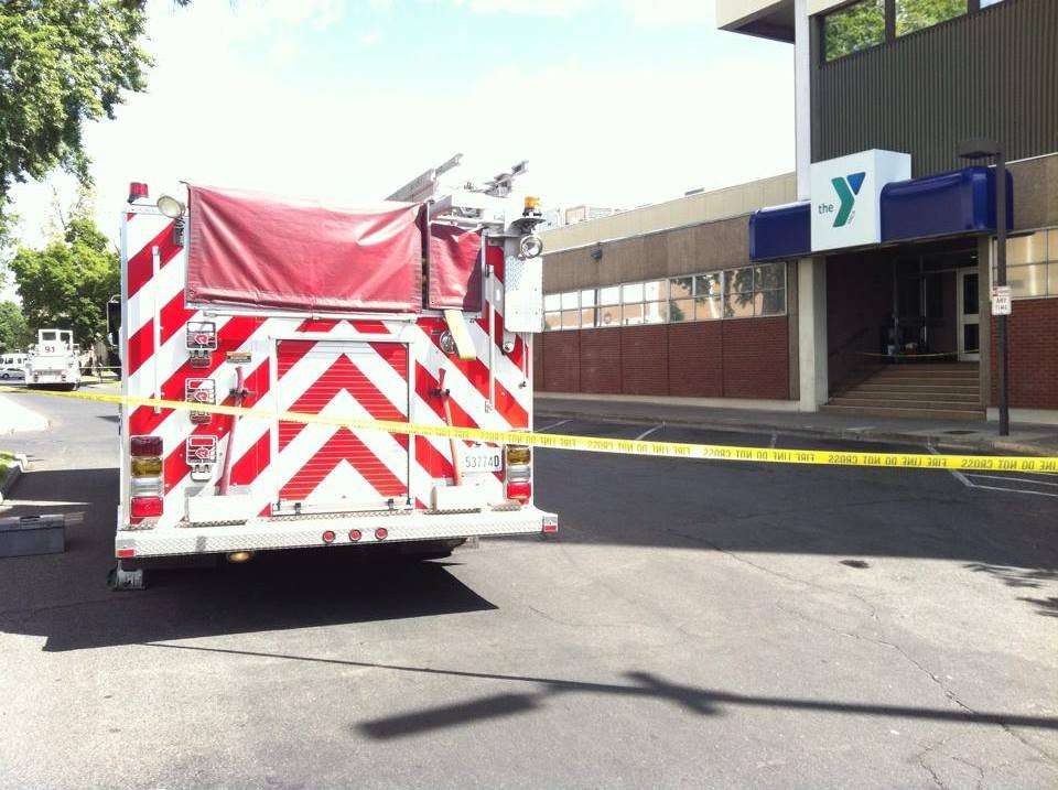 Hazmat crews are cleaning up after a chemical interaction along Yakima Avenue.
