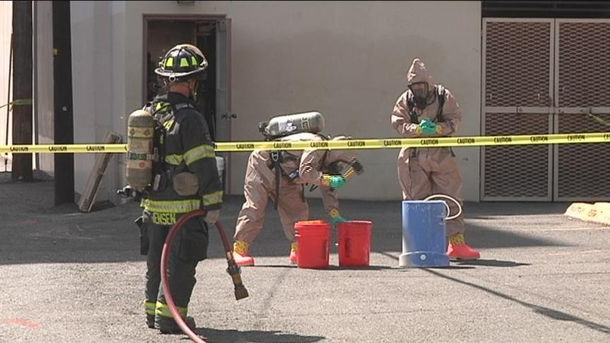 A dangerous chemical combination forced authorities to evacuate the Yakima YMCA Friday morning. The chemicals began releasing dangerous gases into the air.