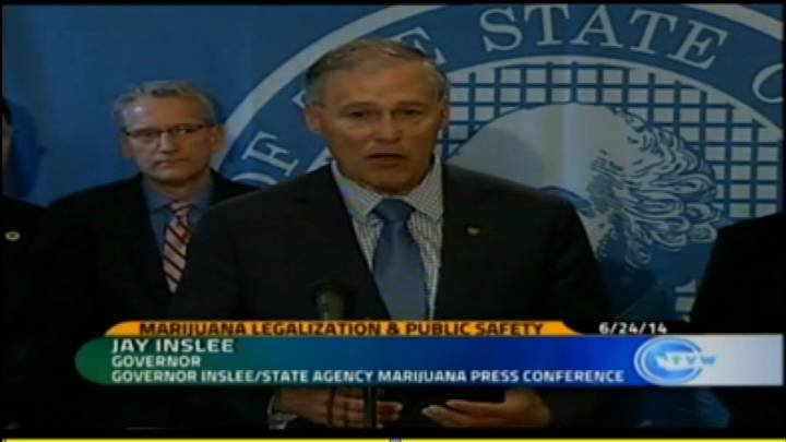 Governor Jay Inslee explained Tuesday in a press conference that our children's safety is a top priority as recreational marijuana shops prepare to open.