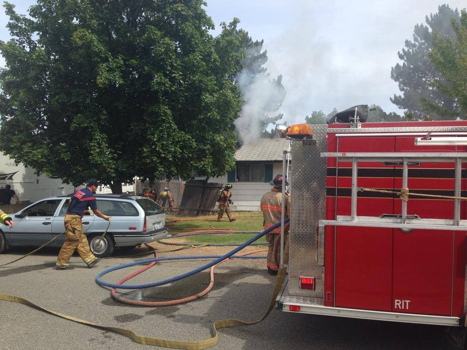 Firefighters are responding to a house fire along W. Okanogan Loop in Kennewick.