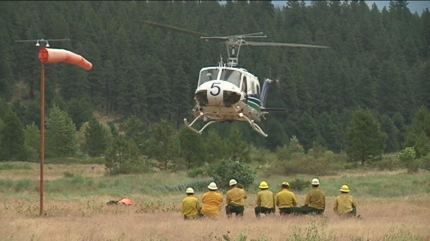 Wild land fire crews were in Cle Elum today to do their seasonal Helitack training as the region gets into fire season.