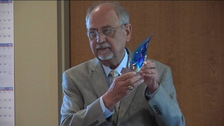 Congressman Doc Hastings was honored Tuesday with an award for his support of public power.