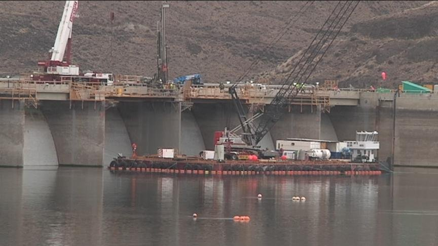 Repair work is now underway to fix the crack in Wanapum Dam, but the area around the dam is still closed off to the public for the rest of the summer.