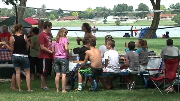Independence Day celebrations got started early Friday at Columbia Park for the River of Fire Festival.