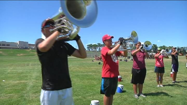 Drums lines and bugle corps are competing at Fran Rish Stadium in Richland Sunday.