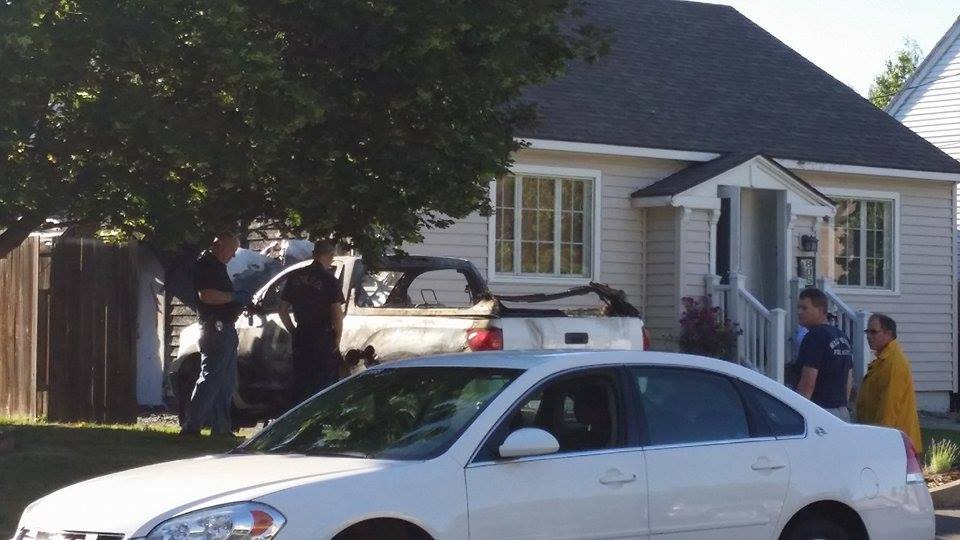 Walla Walla police are investigating after an explosion early Tuesday morning at a house belonging to an animal control officer. Courtesy: Brian Fullen