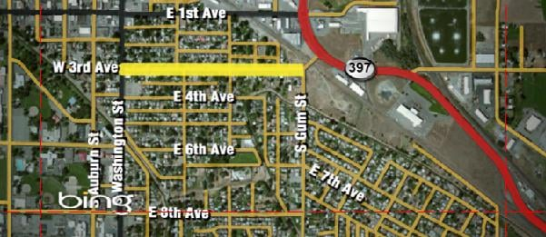 Starting Thursday the City of Kennewick will close part of East 3rd Ave. for the next few weeks.their homes.
