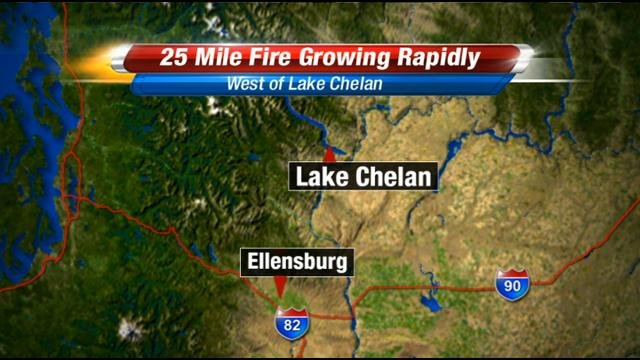 Local firefighters are taking on a new fire west of Lake Chelan that sparked Thursday afternoon.