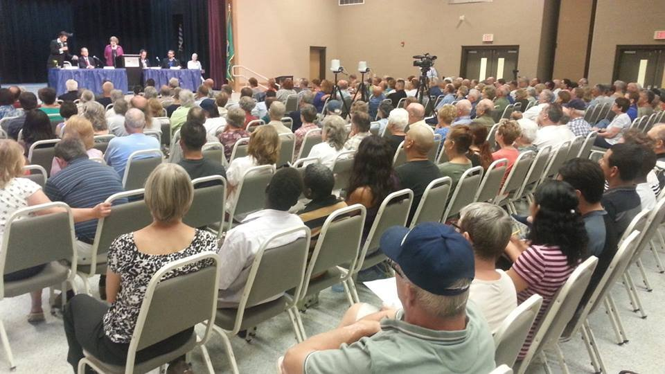 All 12 candidates hoping to fill Washington State's 4th District Congressional seat were in the spotlight at a public forum Thursday evening.