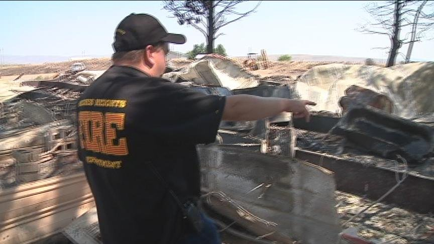 The Naches Heights Fire Department has been unusually busy this summer. In the past couple weeks, they have put out nine suspicious fires that firefighters believe could have been started by an arsonist. But one fire in particular hit very close to home f