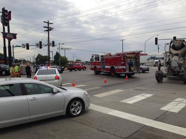 NBC Right Now is at the scene of a dump truck vs. vehicle at the intersection of Clearwater Ave. and 395 in Kennewick.