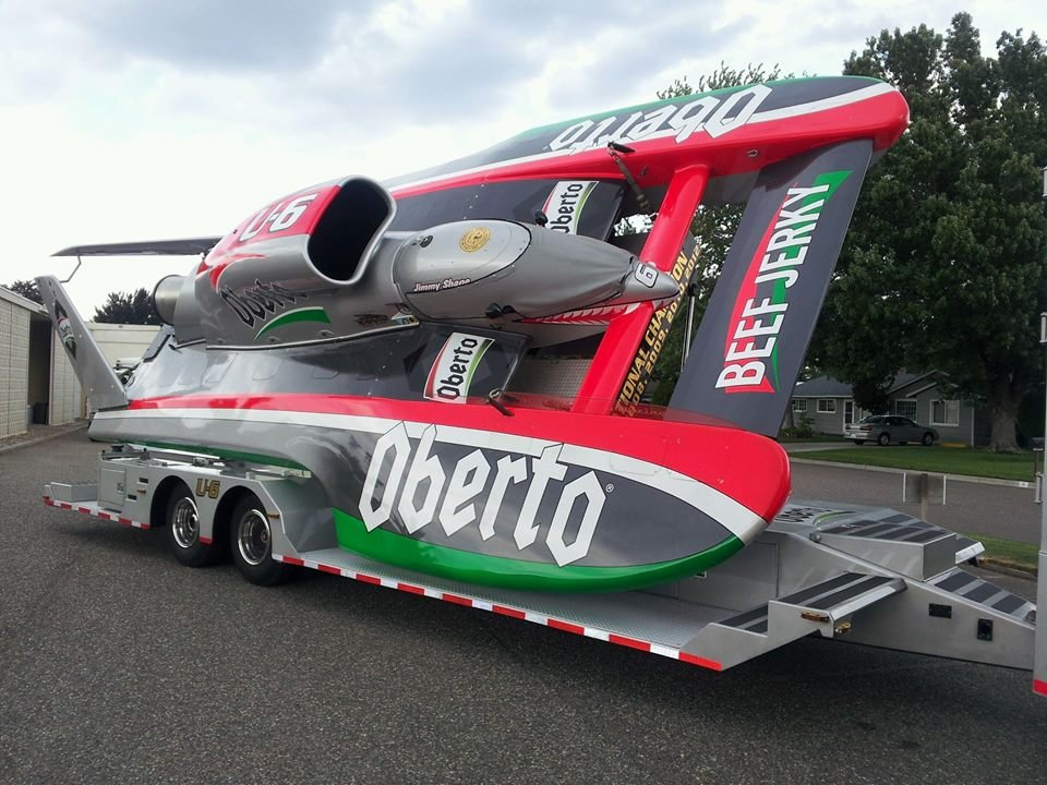 The hydroplanes are starting to arrive in the Tri-Cities and two of them spent Wednesday afternoon in our KNDU parking lot.