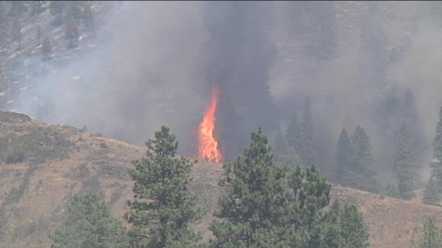 Fire crews are still working hard to fight a wildfire burning just north of Ellensburg.