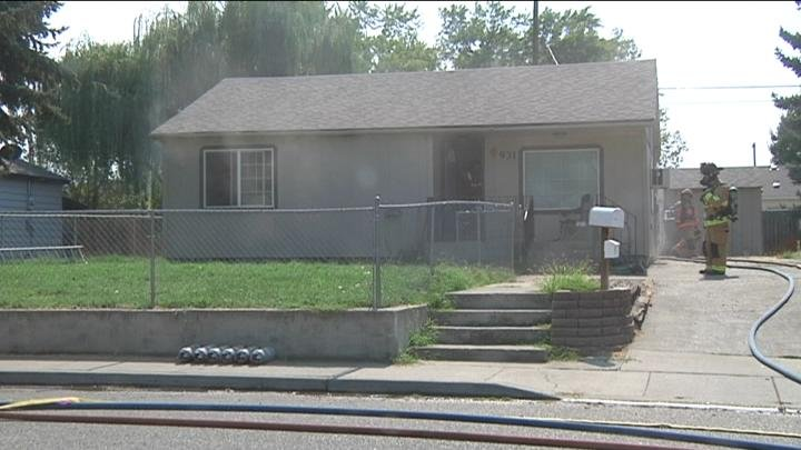 A Richland woman is in the hospital after a fire that started in the basement she rents out.