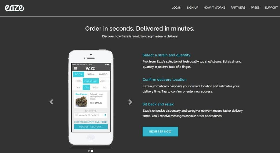 A startup company in California might someday offer to deliver medical marijuana to your door.