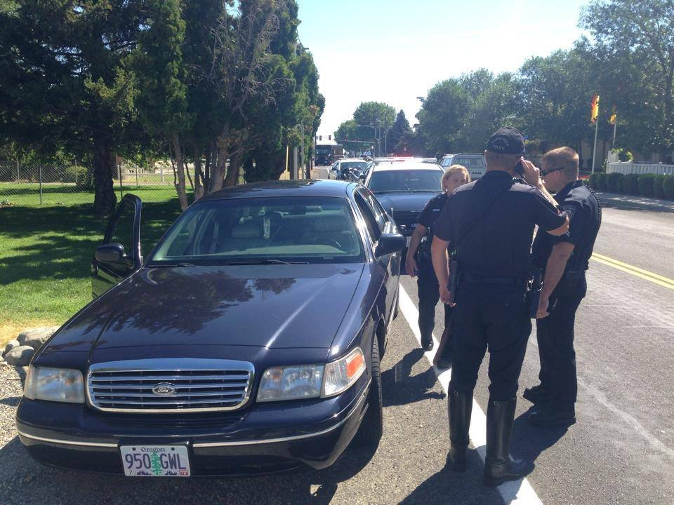 A man is in custody after a slow speed chase around 11 a.m. on Thursday.
