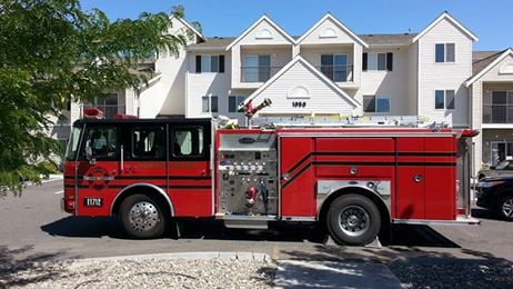 A retirement-age apartment complex was evacuated Friday after a cooking-related fire incident.