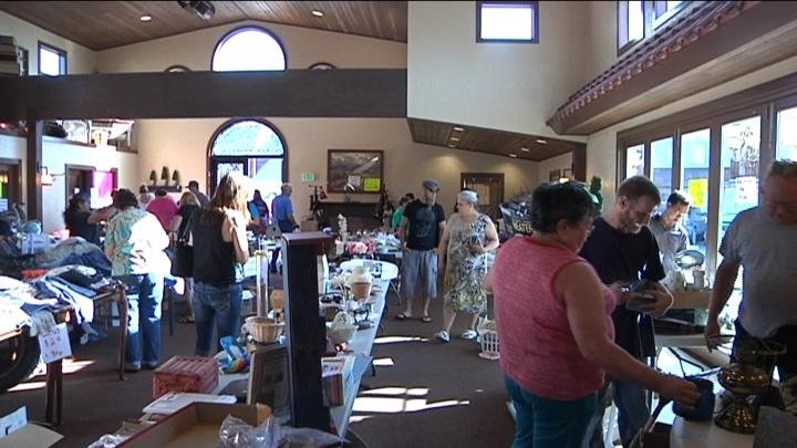Customers shopped at the rummage sale.