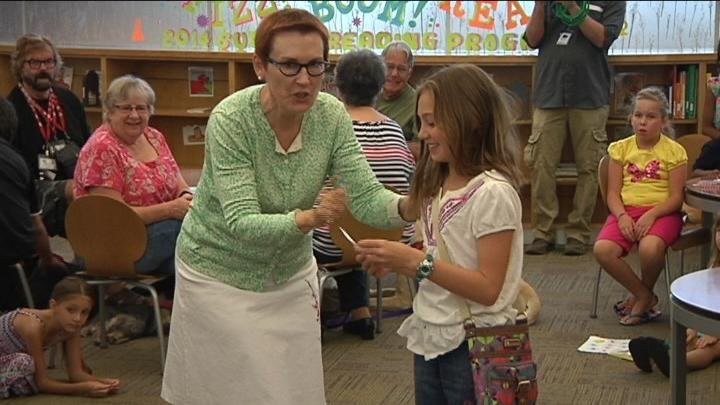 Some tiny bookworms over in Richland were rewarded for their summer reading Monday.