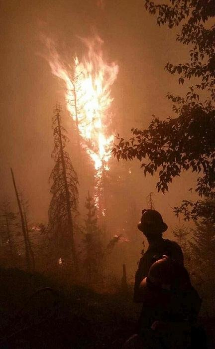 The South Cle Elum Ridge Fire is now 77% contained after burning 894 acres.