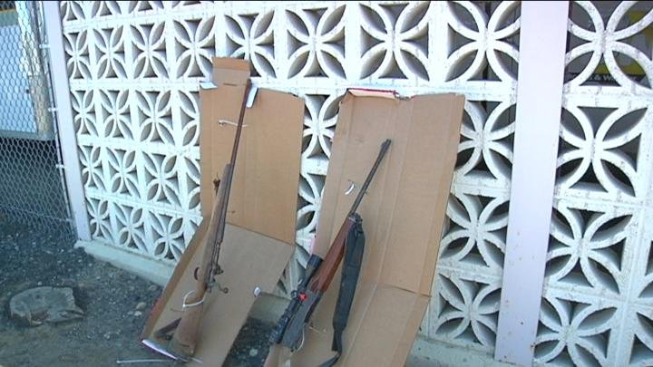 Owner claims the two riffles that were found on top of an elementary school roof.