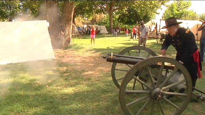 The Civil War reenactment attracted nearly 1,500 people.