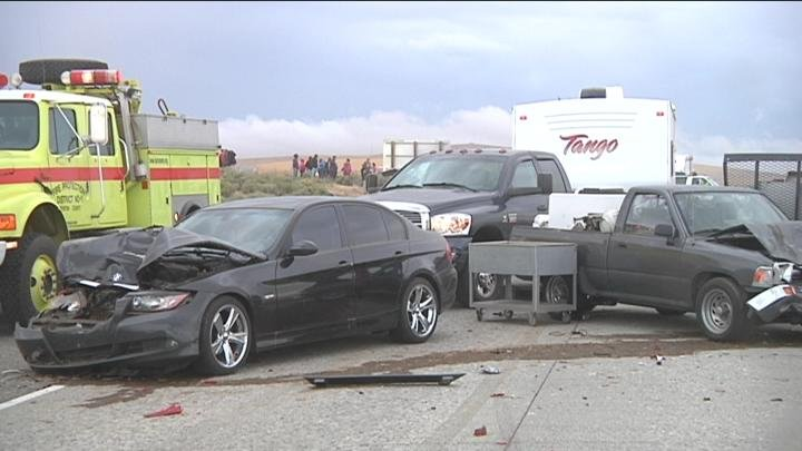 Nearly 50 cars were involved in the accident.