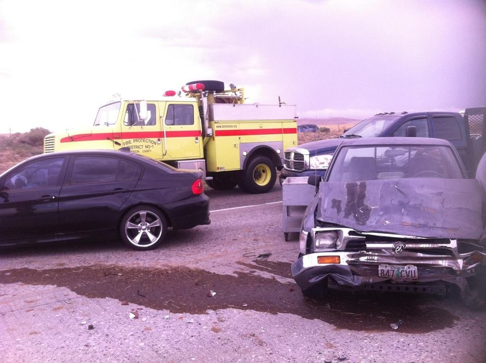 Emergency responders are on the scene of a multi-vehicle accident on I-82 near Locust Grove Rd. in Kennewick.