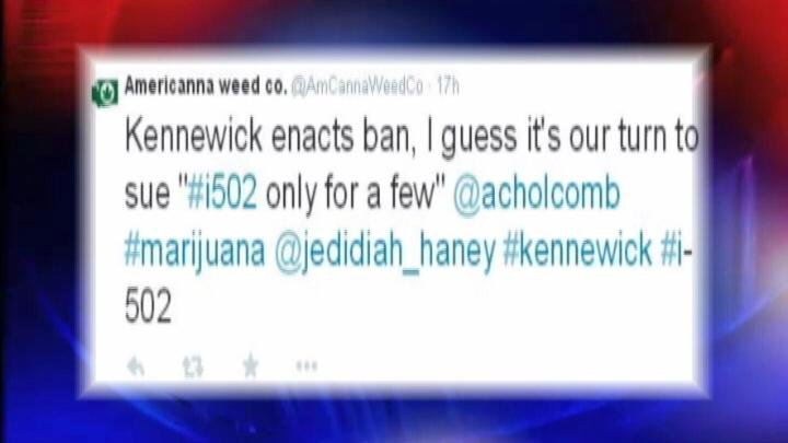 Lawyers that represent possible pot store owners told NBC Right Now that just within the last couple of hours, the City of Kennewick received the paperwork for an injunction claiming their recent pot ban to be unconstitutional.